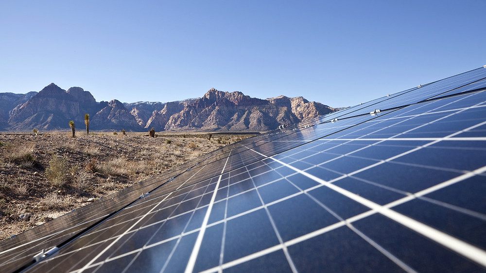 Solar farm in Mojave, Calif.
