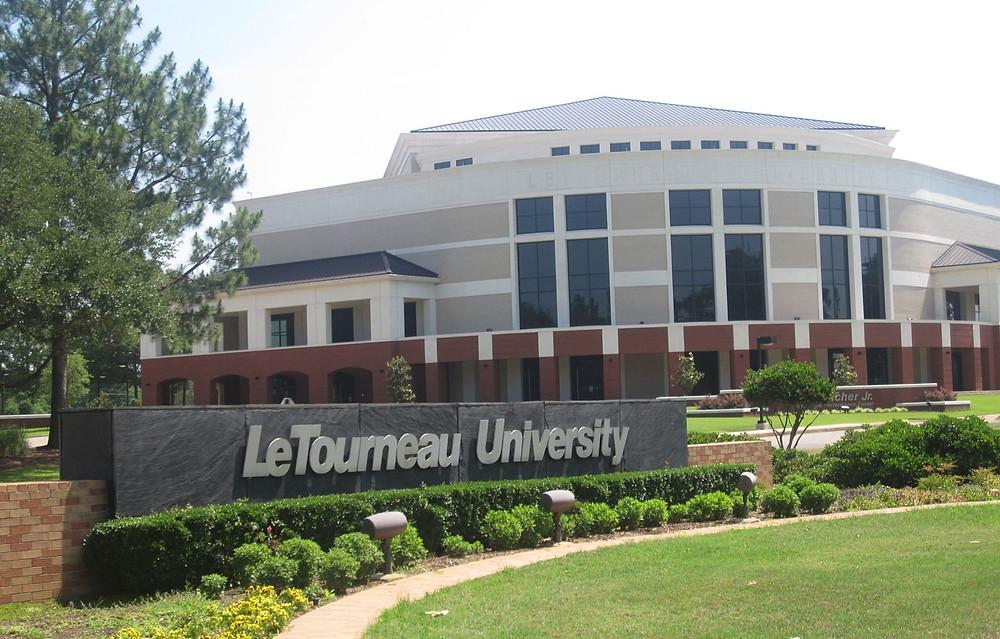 Front gate view of LeTourneau University