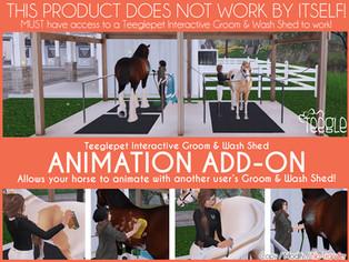 Teeglepet Interactive Groom & Wash Shed Animation Addon