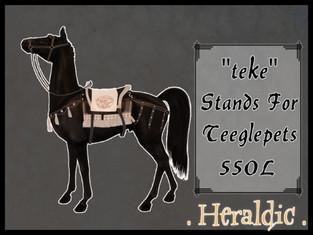 . heraldic . Teke Stands for TeeglePet