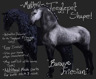 Mythril - Teeglepet Shape: Baroque Friesian