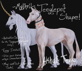 Mythril - Teeglepet Shape: Akhal Teke