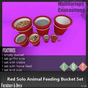 Multifarious Conceptions - Red Solo Bucket Feeding Sets