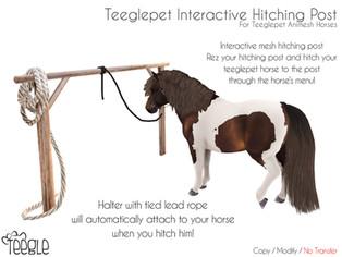 Teeglepet Interactive Hitching Post