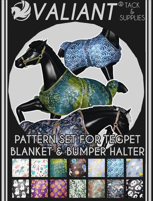 Valiant - Pattern Set for the Teeglepet Blanket & Bumper Halter