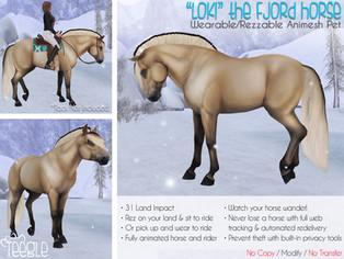 """Loki"" The Fjord Horse"