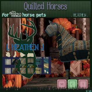 [. HEATHEN .] - Buzz Off Blanket Texture: Quilted Horses