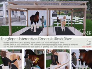 Teeglepet Interactive Groom & Wash Shed