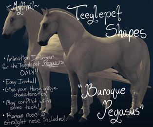 Mythril - Teeglepet Shape: Baroque Pegasus