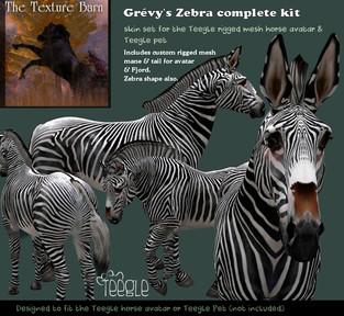 Texture Barn - Teeglepet Zebra Kit
