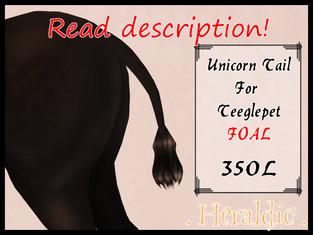 . Heraldic . - Foal Unicorn Tails