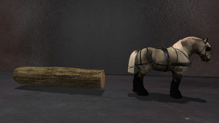 ~TAURUS CREATIONS~: Belgian Big Log & Bale Sleds