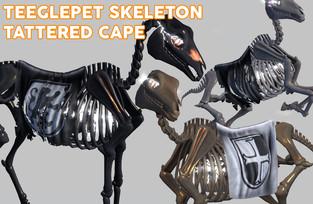 SNODE - TPet Skele Tattered Cape