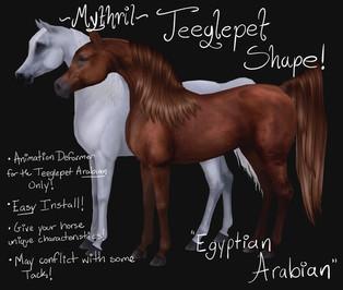 Mythril - Teeglepet Shapes: Egyptian & Crabbat Arabians