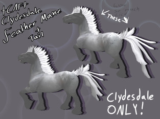 +CAF+ - Clydesdale Feather Mane & Tail