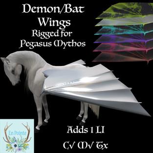 En Pointe - Demon Wings for Teeglepets