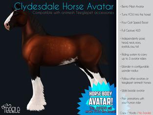 Teegle - Clydesdale Horse Avatar