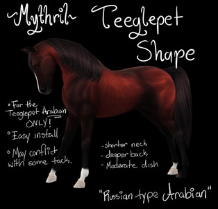 Mythril - Teeglepet Shape: Russian Arabian (Arabian ONLY)