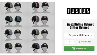 FUSION - Apex Sparkly Riding Helmet