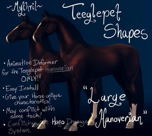 """Mythril - Teeglepet Shape: """"Large Hanoverian"""""""