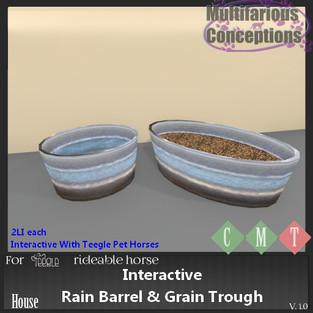Multifarious Conceptions - Interactive Rain Barrel and Grain Trough