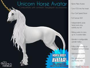 Teegle - Unicorn Horse Avatar