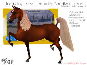 Teegle - Teegle Toy: Dazzlin Darlin The Saddlebred Horse