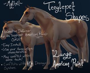 """Mythril - Teeglepet Shape: """"Large American Paint"""""""