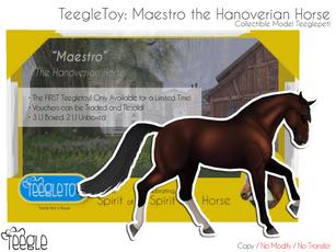 Teegle - Teegle Toy: Maestro the Hanoverian Horse