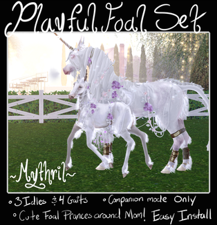 ~Mythril~ Playful Foal Set