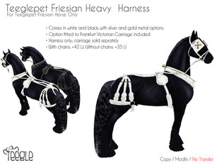 New & Updated! Heavy Harness for the Clydesdale and Friesian