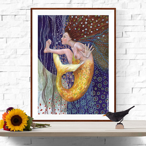 Mermaid A3 Instant Printable