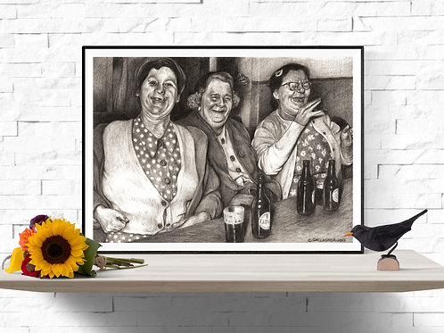A Barrel of Laughs, Giclee Art Print from £12.90