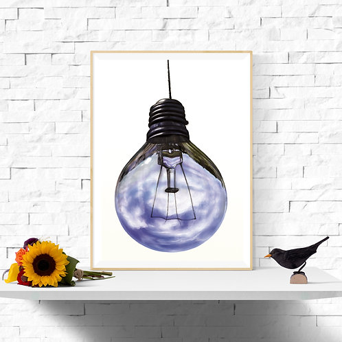 Blue Sky Thinking, Giclee Art Print from £12.90