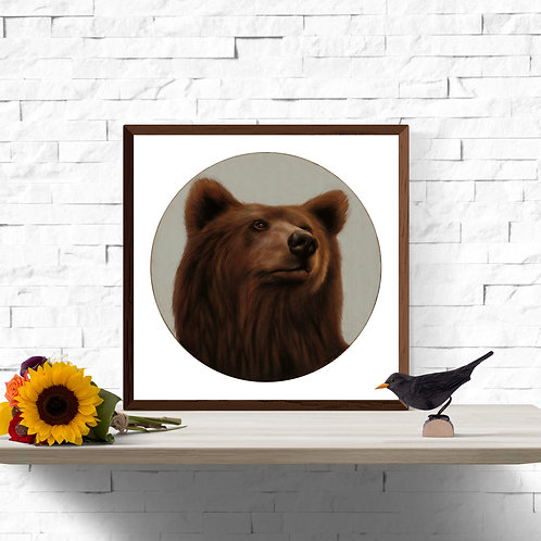 King of the Forest Instant Art Printable 12 x 12 inch