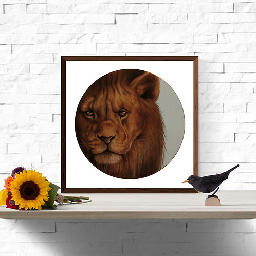 King of the Savanna Instant Art Printable 12 x 12 inch