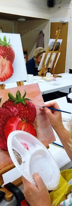 Acrylic painting technique session