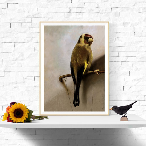 Goldfinch Instant A3 Art Printable