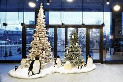 Winter wonderland: Aon Center