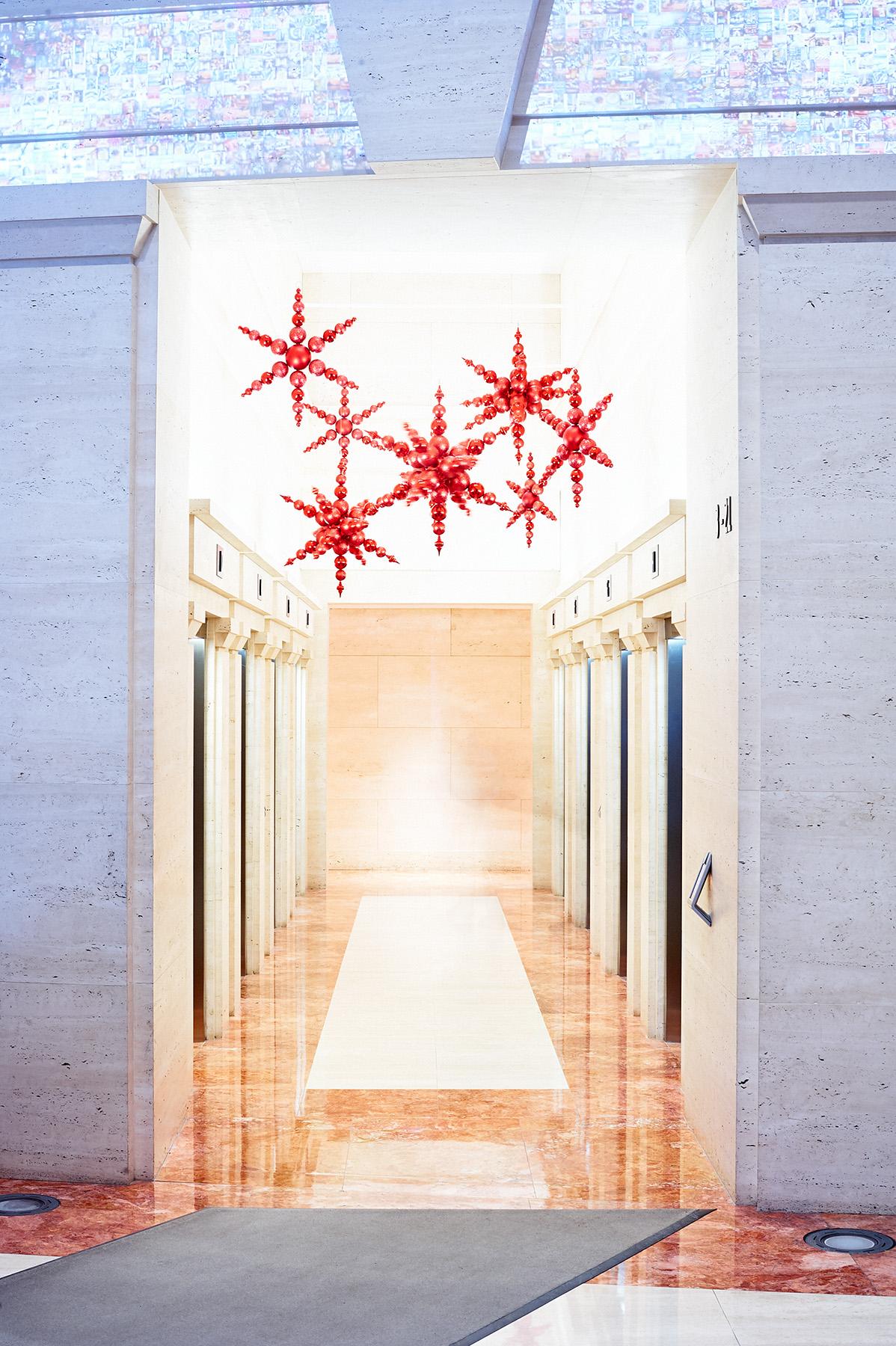Hanging stars: 180 N Lasalle
