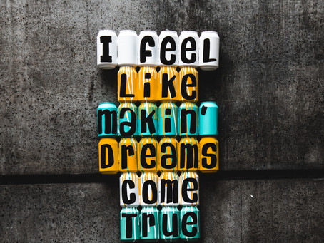 Dream big then get to work!