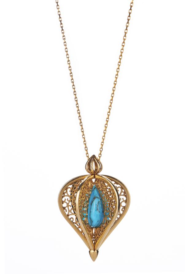 silver/gold vermeil flore pendant
