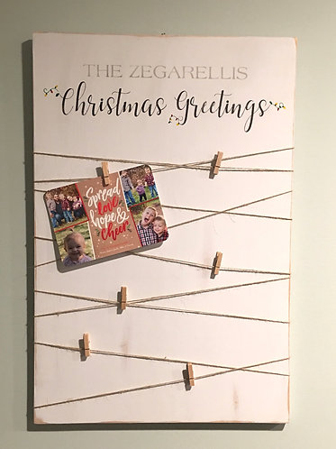Christmas card sign