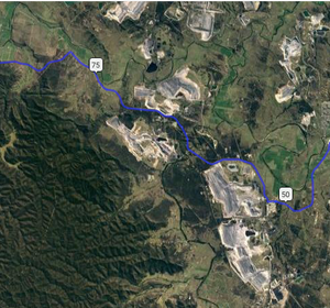 Open cut mining operations Hunter Valley