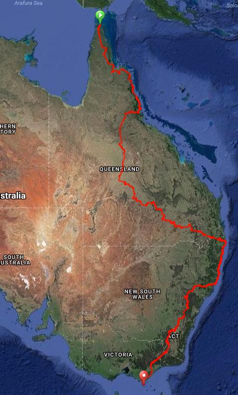 An epic bike race down through Australia, the Great South Land....