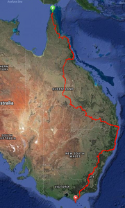 The provisional journey route ....