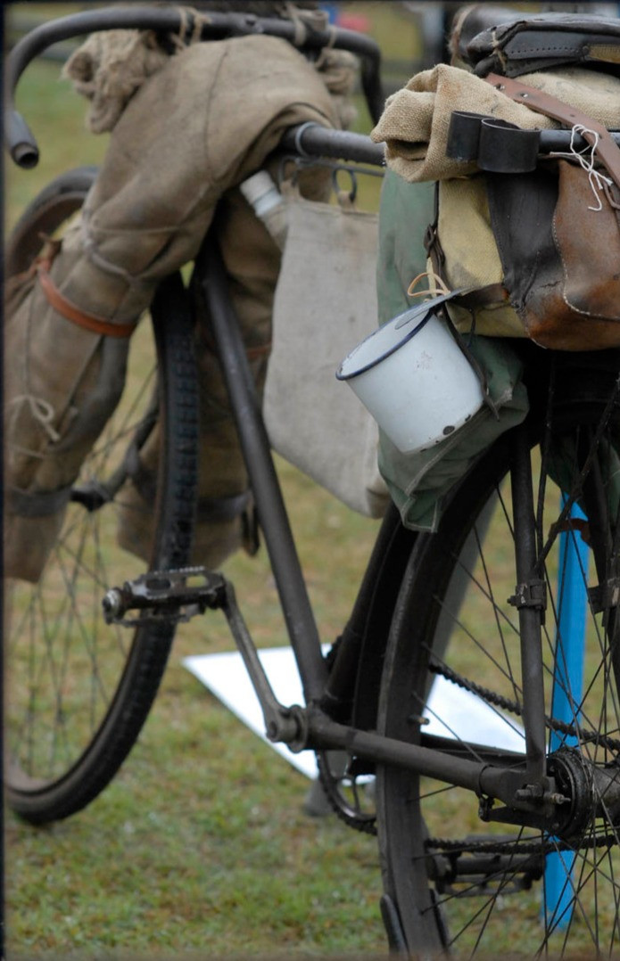 An early shearers bike packing rig ... circa 1919?