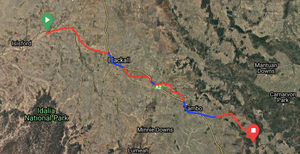 outer Barcoo to Caldervale Rd via Blackall and Tambo