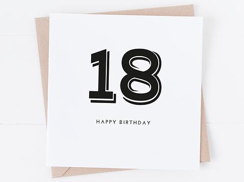 Bold Age Birthday Card - Any Age