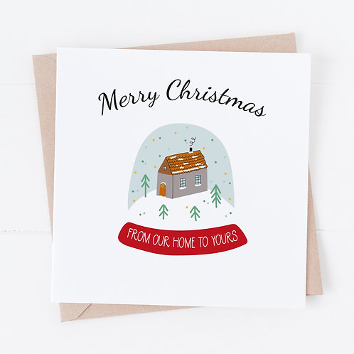 Snow Globe Cards - From Our Home To Yours